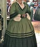 1862 Countess of Castiglione Day Dress