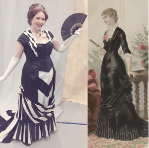 1880 evening dress