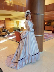 Gwendolen's Early 1870s Day Bodice & Bonnet