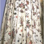 1760-70 dress, painted & dyed, India (fabric). Designed for European market.