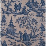 1766 furnishing fabric, copperplate printed, England. Furnishing fabric - what NOT to look for! Victoria & Albert Museum