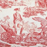 1780-90 furnishing fabric, copperplate printed, England. Furnishing fabric - what NOT to look for! Victoria & Albert Museum