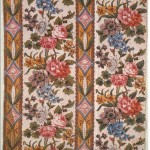 1790-95 furnishing fabric, block printed, England. Furnishing fabric - what NOT to look for! Victoria & Albert Museum