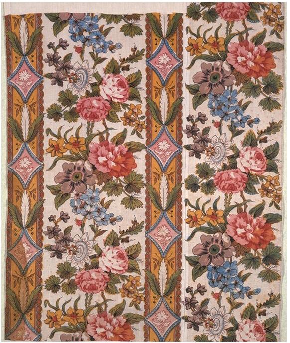 18th Century Printed Cotton Fabrics D 233 Mod 233
