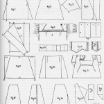 The 1830s Workwoman's Guide shows the jigsaw puzzle-like pattern layouts used for centuries.