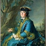 Nattier, 1750s.  Louise-Elisabeth de France, Duchesse de Parme.  This could be a brunswick or jesuit, based on the sleeves, although I don't see a hood. Gogmsite