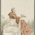 Mme de Lancise by Carmontelle, 1750s or 1760s?  Jesuit? Musée Condé