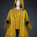 1765-75 brunswick. The petticoat and lower sleeve extension are missing. Victoria & Albert Museum