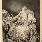 Moreau, 1777, engraved after an earlier Greuze painting.  La Philosophie Endormie. Jesuit?