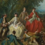 "Lancret, ""Picnic after the hunt,"" 1740"
