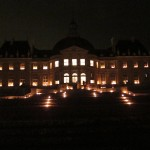 Chateau lit by candles