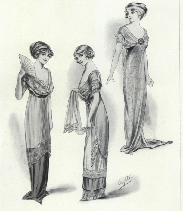 Dressing For Dinner On The Titanic Early 1910s Evening Dress D 233 Mod 233