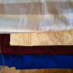 Stripey silk, textured silk, silk brocade, wool