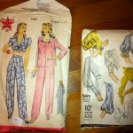 Vintage patterns, which will be sold on Etsy