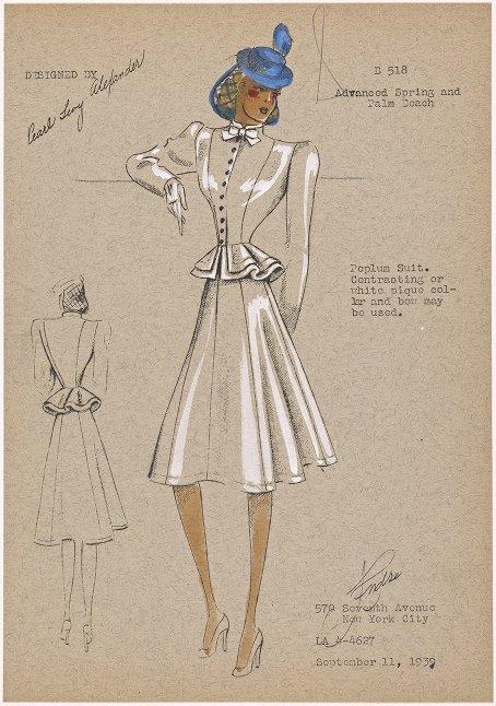 Andre Studios Fashion Drawings 1930 1941 Demode