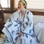 I spent way too much time in June handsewing an 18th century Turkish ensemble. (C) Karen Fox