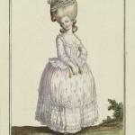 Camisole à la Polonaise, de Mousseline des Indes, doublée de Taffetas rose. Gallerie des Modes et Costumes Français, 31e. Cahier. 1780.