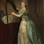 "Rose Adelaïde Ducreux, ""Self-portrait with a Harp,"" ca. 1791. Wikimedia Commons."