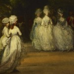 "Thomas Gainsborough, detail from ""The Mall in St. James's Park,"" 1783.  Wikimedia Commons."