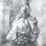"""Elisabeth Vigée Le Brun, """"Marie-Antoinette se promenant dans un jardin vers 1780-1785."""" Wikimedia Commons."""