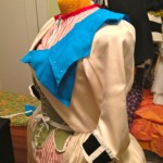 Draping the collar, which I ended up making a little bit wider than this.