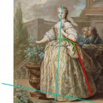 Marie Leszczynska, Queen of France, c. 1730, Charles van Loo.  Annotated image via demodecouture.com