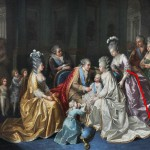 The Royal family around Louis Joseph, Dauphin of France, in 1782.  Annotated image via demodecouture.com