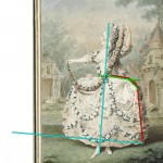 Mademoiselle Lani, de l'Opéra by Carmontelle.  Annotated image via demodecouture.com