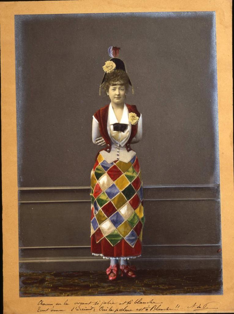 1870  Costume da Arlecchino per giovanetta