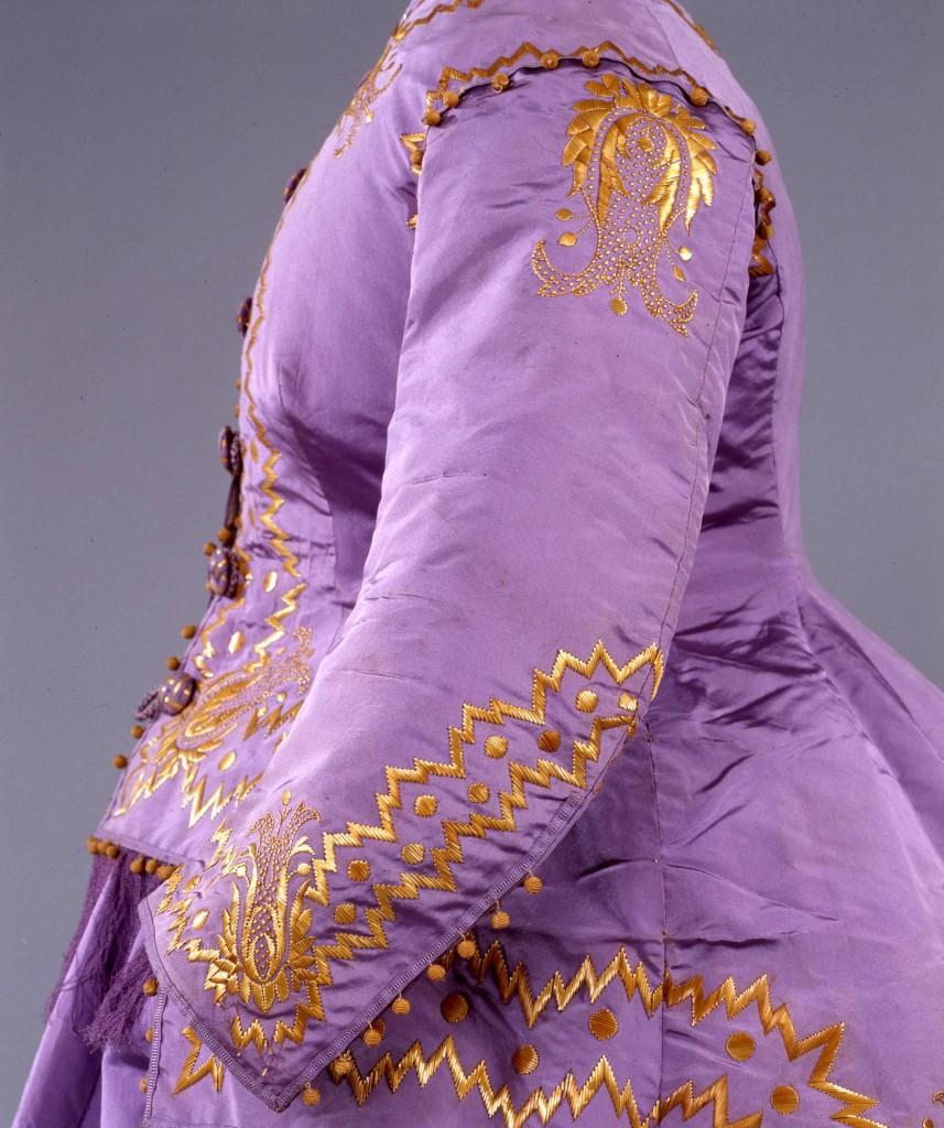 Abito femminile da cerimonia in tre pezzi 1867