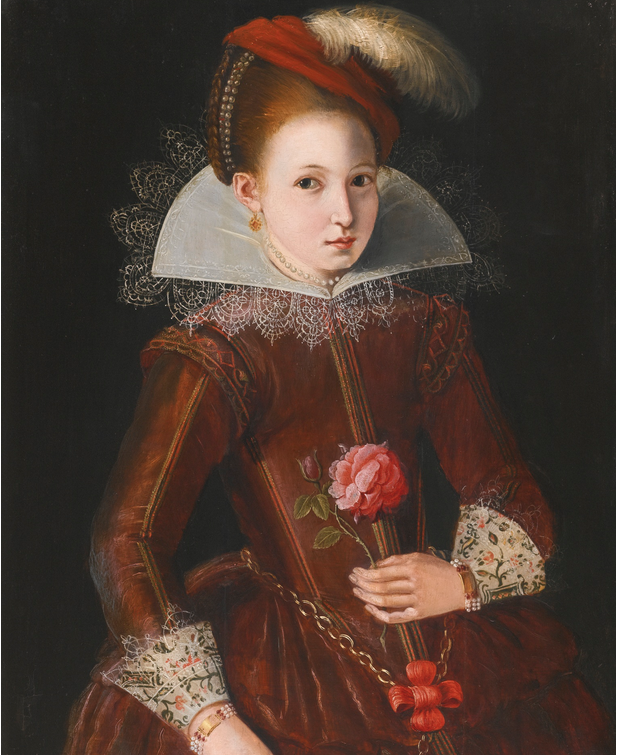 Seriously badass. English School, early 17th century | PORTRAIT OF A GIRL | Sotheby's